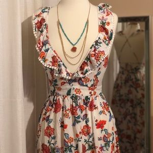 Strappy floral print sleeveless maxi dress sz S/M